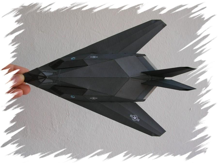 Folding instructions: f-117 nighthawk.