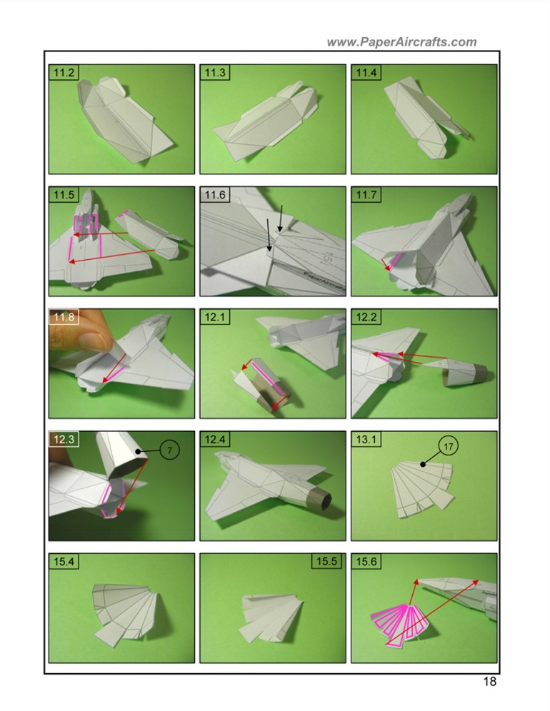 F-22 assembly sample PaperAircrafts