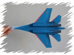Su-27 bottom PaperAircrafts
