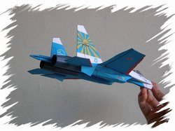 Su-27 back PaperAircrafts