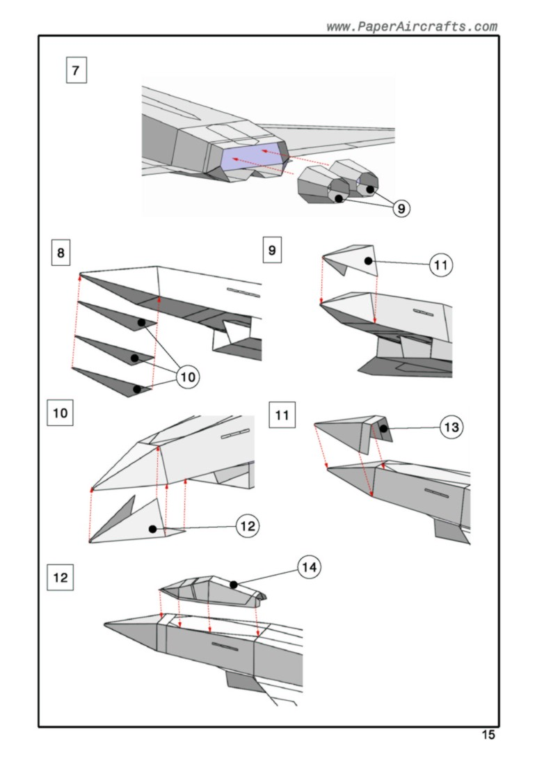 Eurofighter assembly sample PaperAircrafts