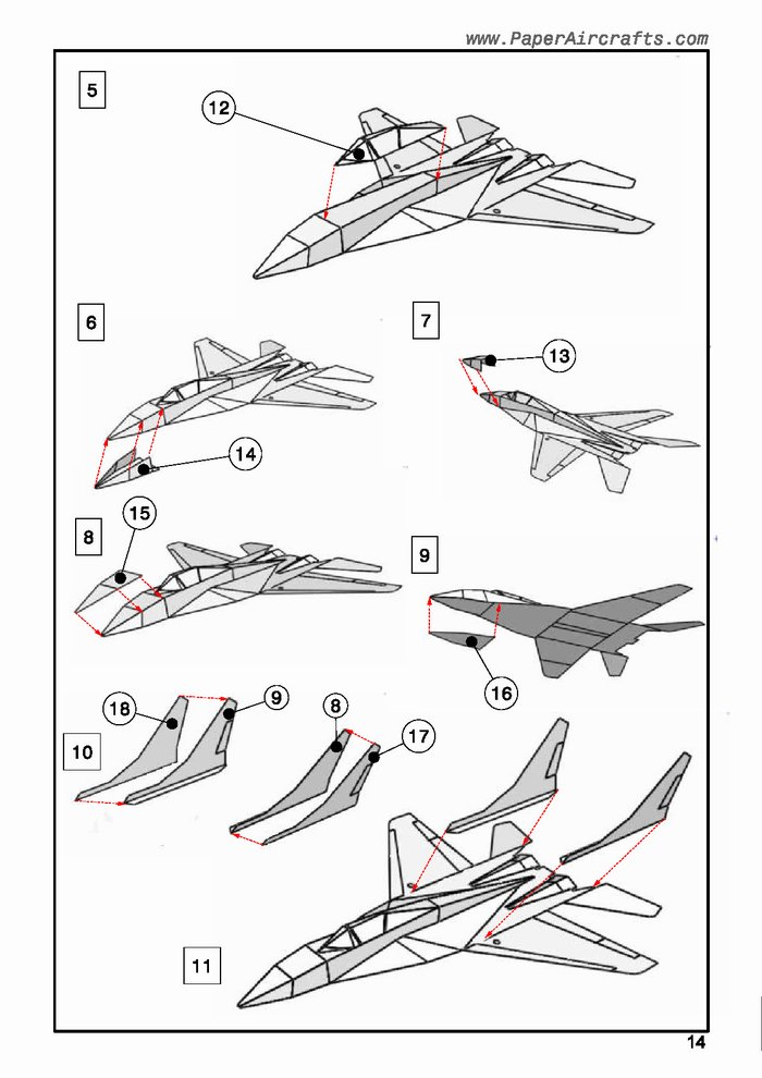 Mig-29 assembly sample PaperAircrafts