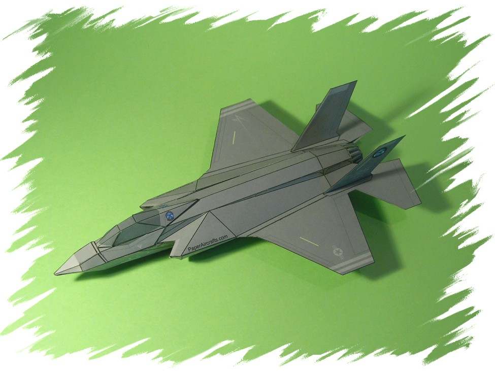 F-35 Painted PaperAircrafts.com