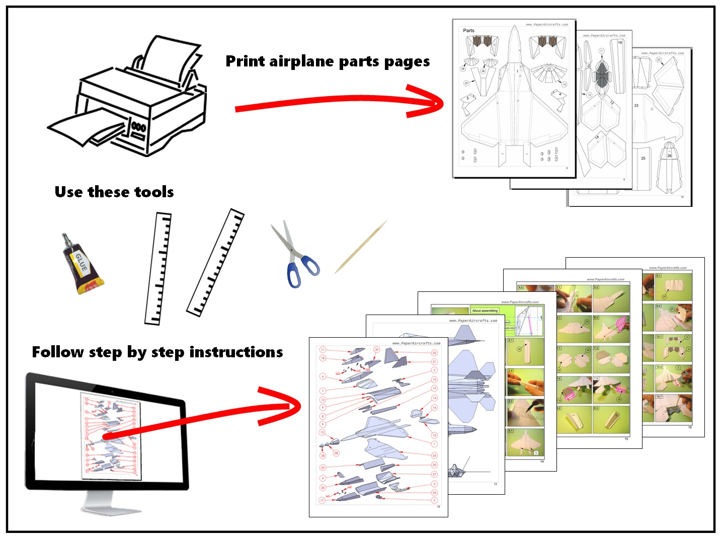 Paperaircrafts 3d Origami Diagram Free Download Get Creative Building Paper Aircraft Youre Minutes Away From Constructing And Flying A Realistic Our Instantly Downloadable Guides