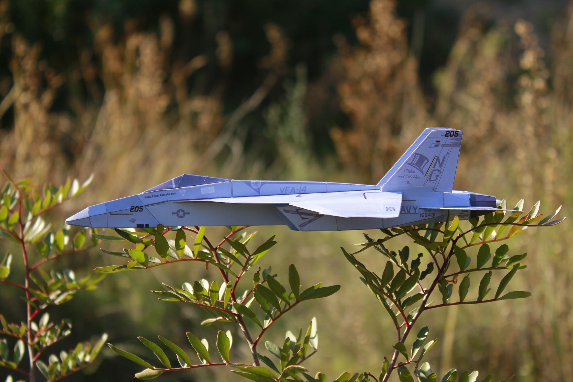 Paper F-18E Tophatters - PaperAircrafts.com