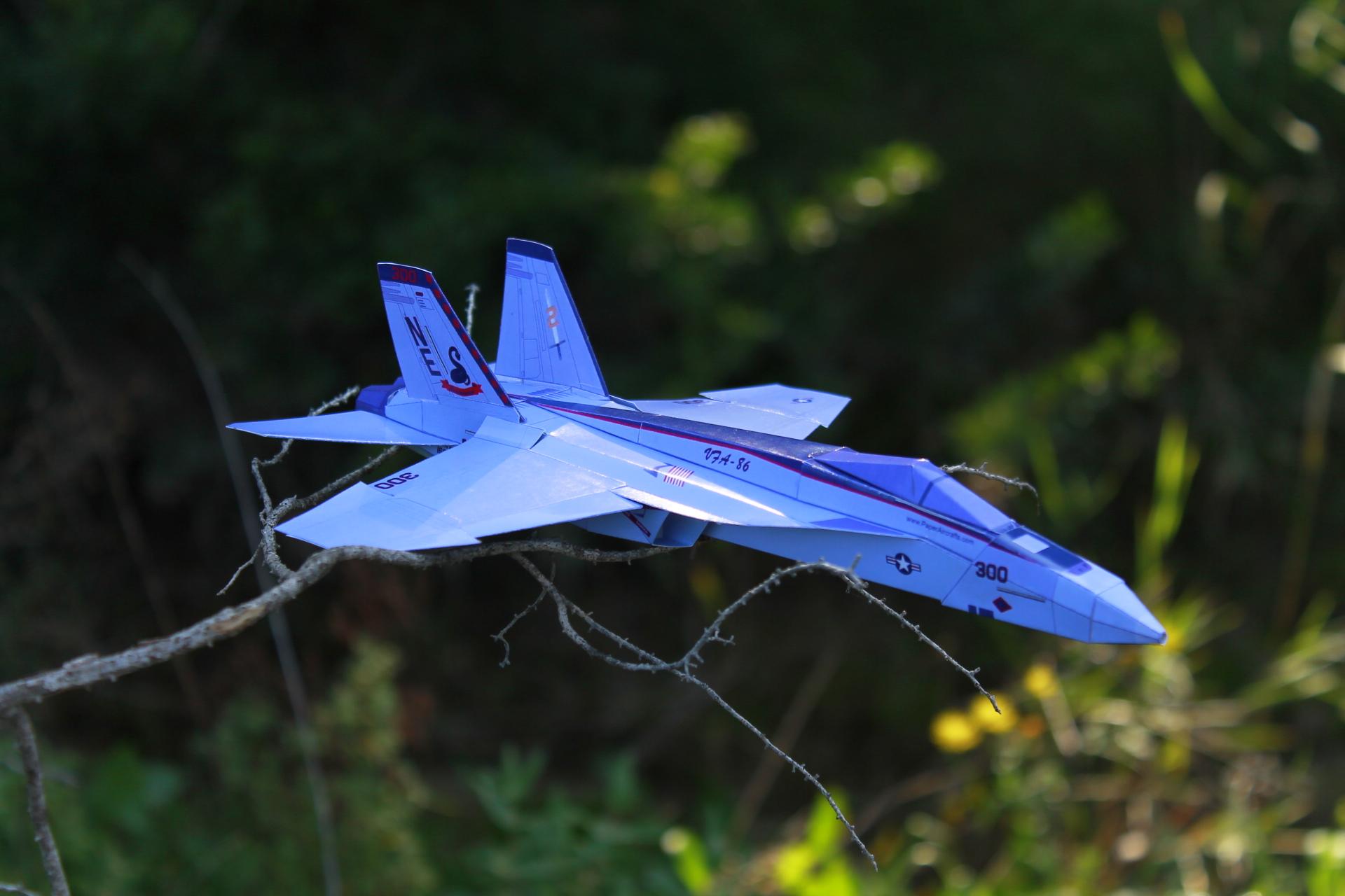 Paper F-18E Sidewinders - PaperAircrafts.com